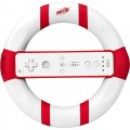 Wii NERF Racing Wheel - Impact Resistant Controller (RED)